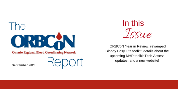 Banner image for The ORBCoN Report, September 2020