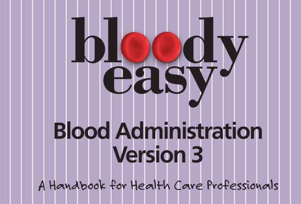 New cover preview for Bloody Easy Blood Administration Version 3